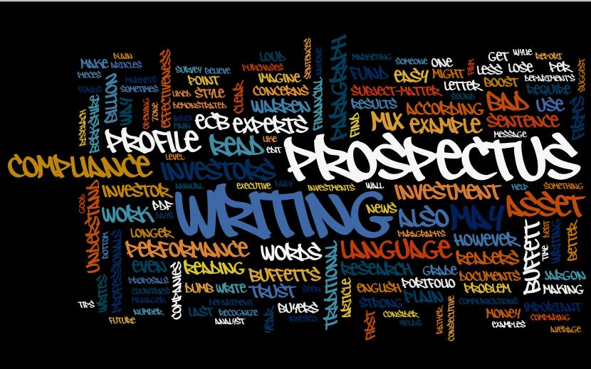 Wordle image of Susan Weiner's MarketingProfs article about plain English and good writing