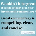 3Cs of investment commentary InvestmentWriting