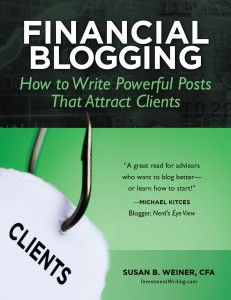 Financial Blogging book by Susan Weiner