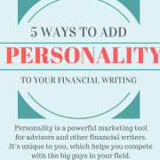5 ways to add personality to your financial writing