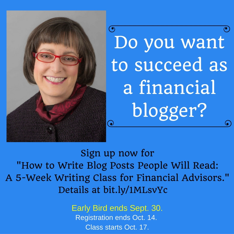Financial Blogging class