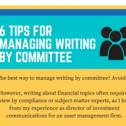 manage writing by committee
