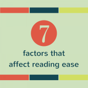 7 factors that affect reading ease