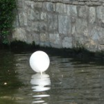 White balloon in the river