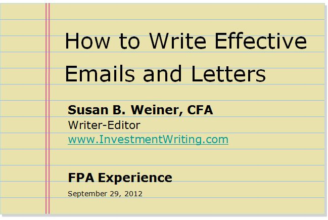 How to Write Effective Emails and Letters
