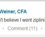 ziplining LinkedIn post