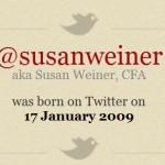 @SusanWeiner Twitter birthday