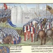 Chronique d'Ernoul et de Bernard le Trésorier - caption: 'Crusaders besieging Damascus'