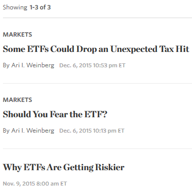 """Smart beta"" jargon search results from The Wall Street Journal"