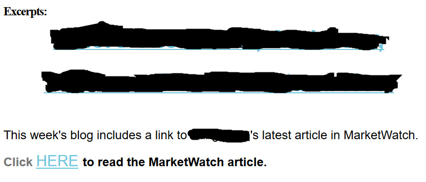 annoying financial e-newsletters: an example