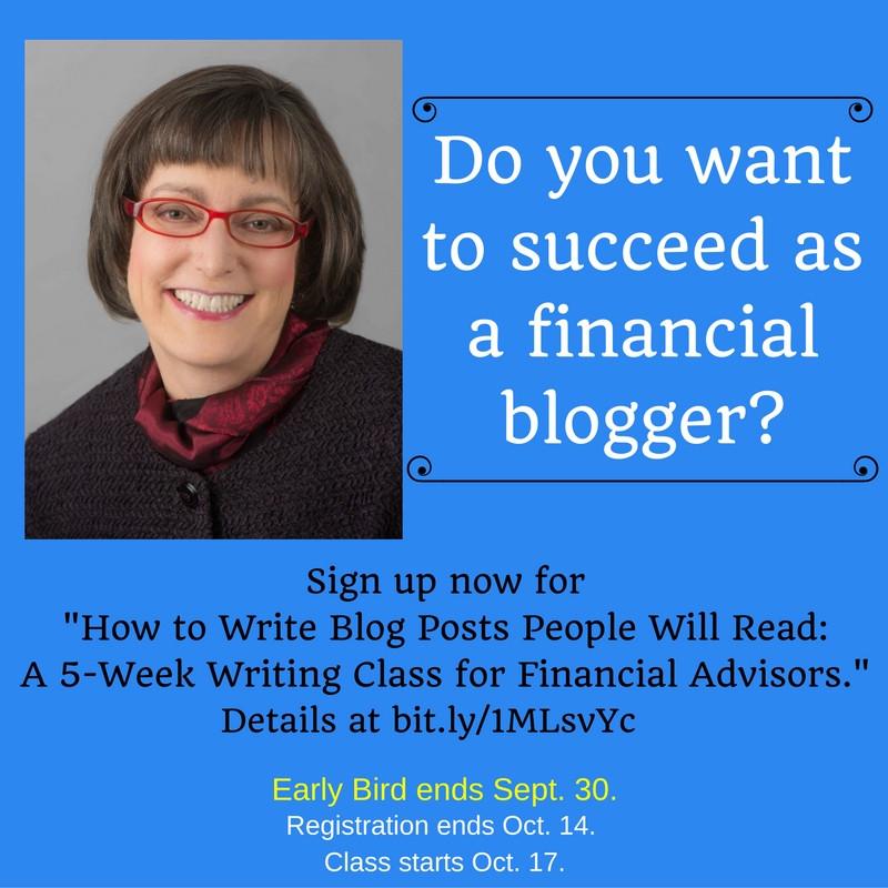 Financial Blogging class