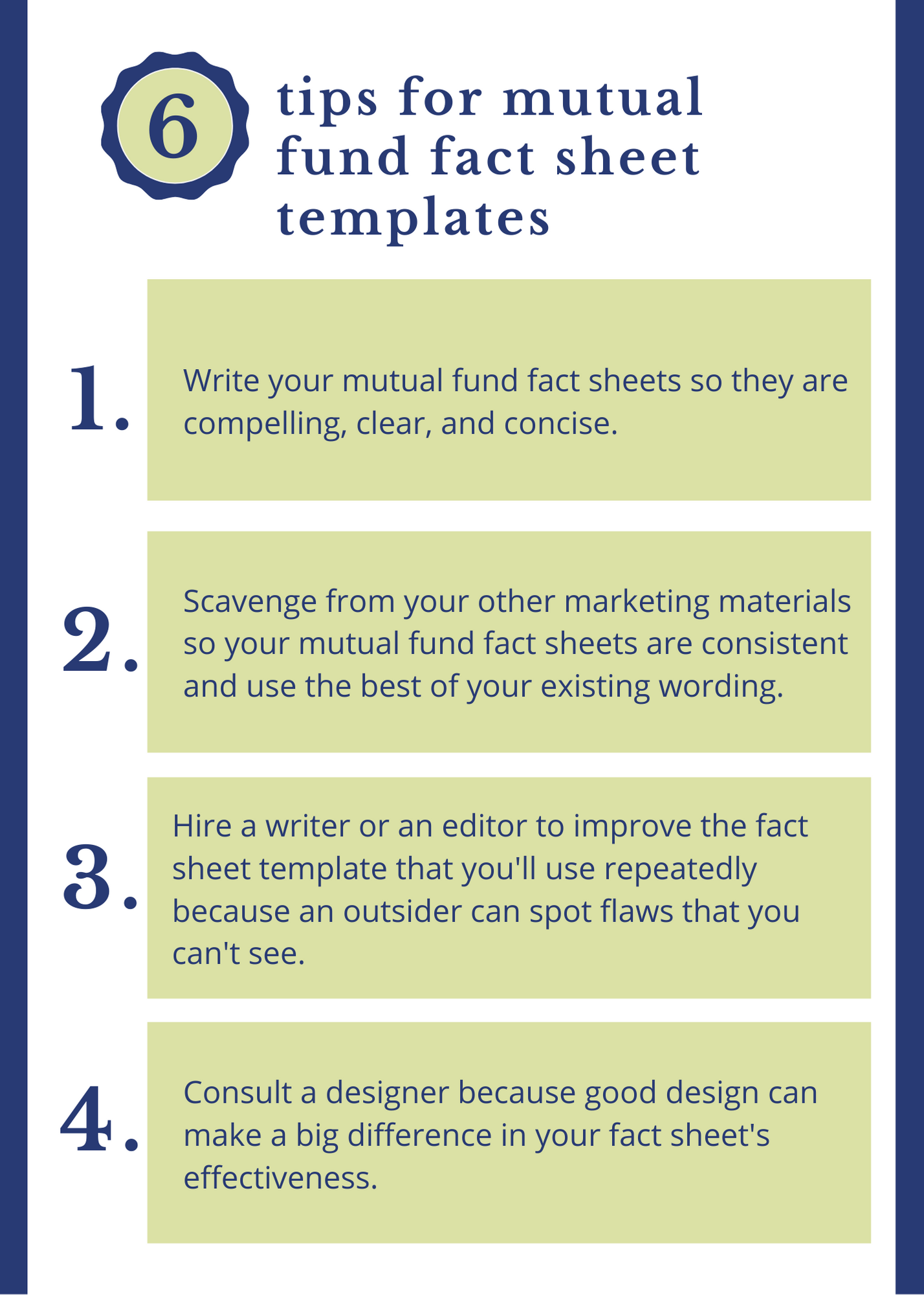 4 Tips For Mutual Fund Fact Sheet Templates Susan Weiner S Blog On Investment Writing