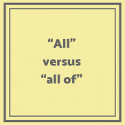 All versus all of