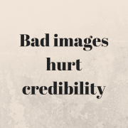 Bad images hurt credibility