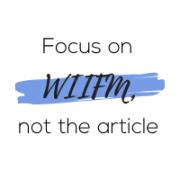 focus on WIIFM