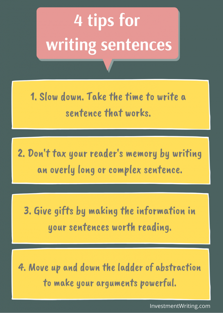 4 tips for writing good sentences