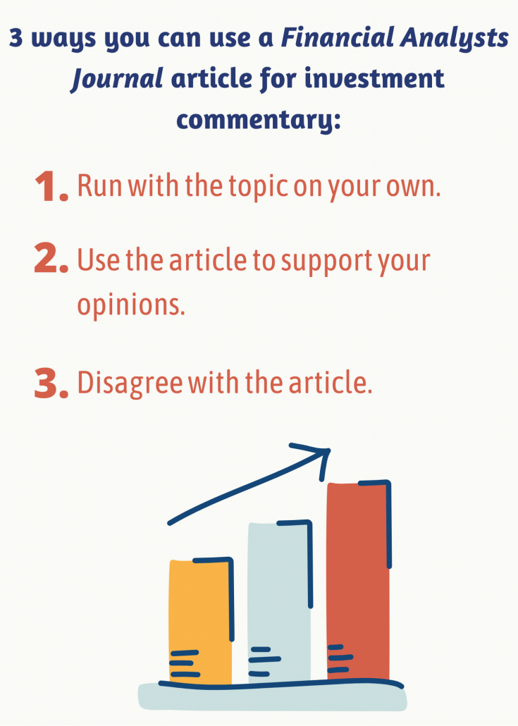 3 ways you can use a Financial Analysts Journal article for investment commentary
