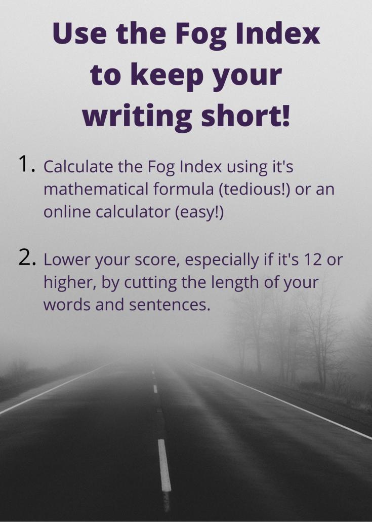 Fog Index infographic