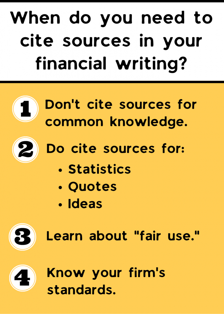 When do you need to cite sources infographic